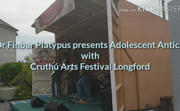 WATCH: Creative adolescents bring colour and music to Longford town