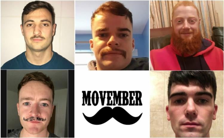 Six Granard lads taking part in Movember to raise funds for Mental Health