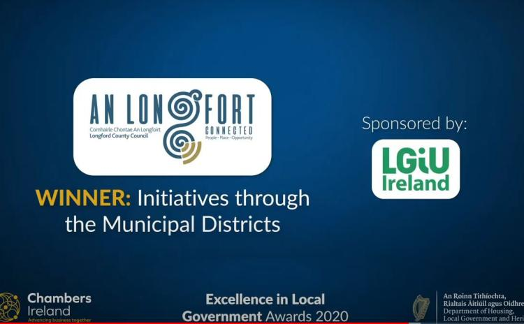 Longford honoured at Chambers Ireland Excellence in Local Government Awards