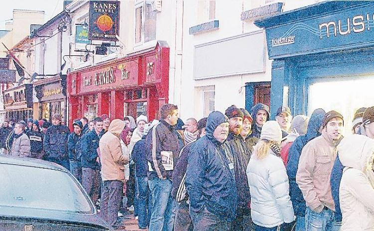 GALLERY | Still haven't found what I'm looking for! Down Memory Lane as Longford fans queue patiently for U2 tickets