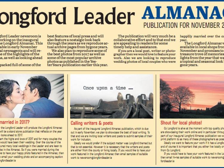 Longford Leader Almanac: Attention local poets, writers and