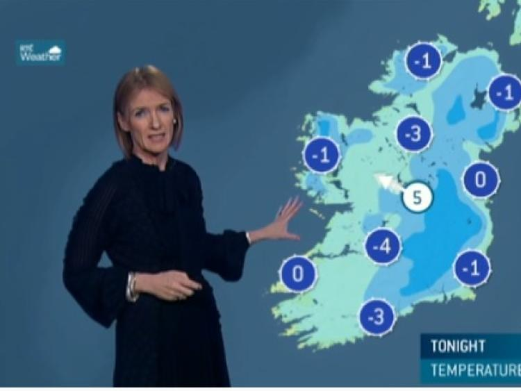 Watch out on the roads on Monday morning as temperatures plummet