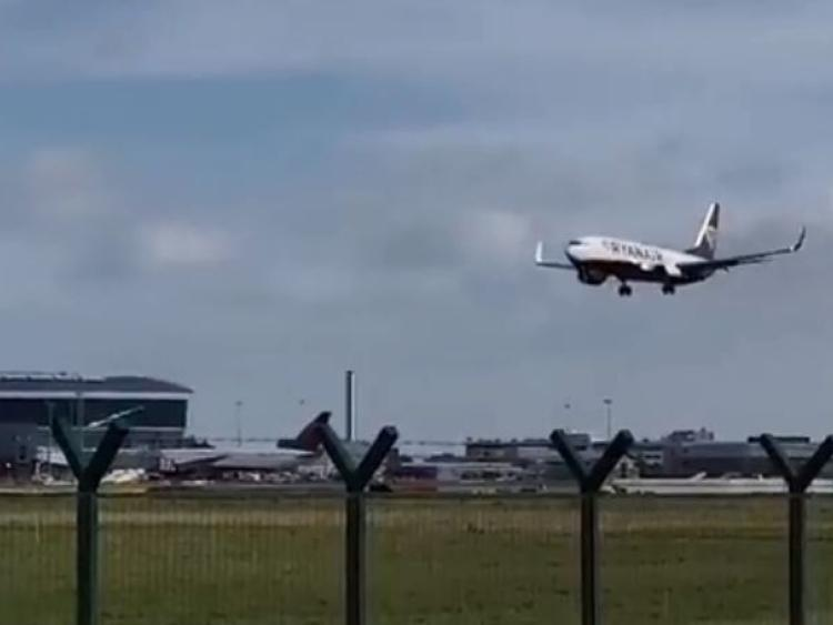 Watch Ryanair Flight Tries To Land In Dublin Airport During Storm