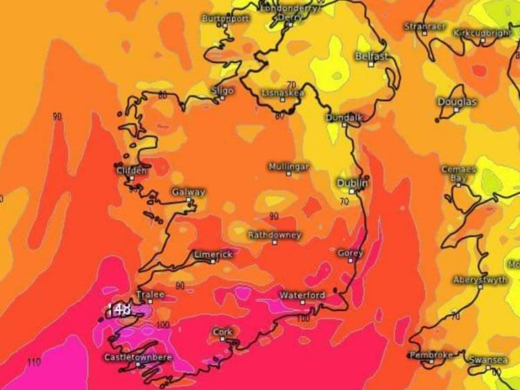 Waterford weather warning increased to ORANGE as Storm Diana approaches