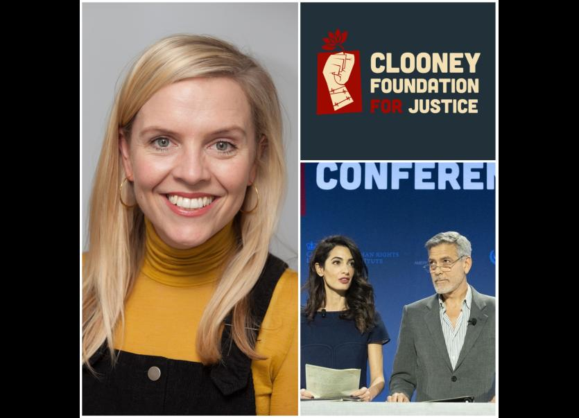 Huge appointment for Longford journalist as she links up with Amal and George Clooney and the Clooney Foundation for Justice 1624019638762_1624020164.jpg--huge_appointment_for_longford_journalist_as_she_links_up_with_amal__and_george_clooney_and_the_clooney_foundation_for_justice