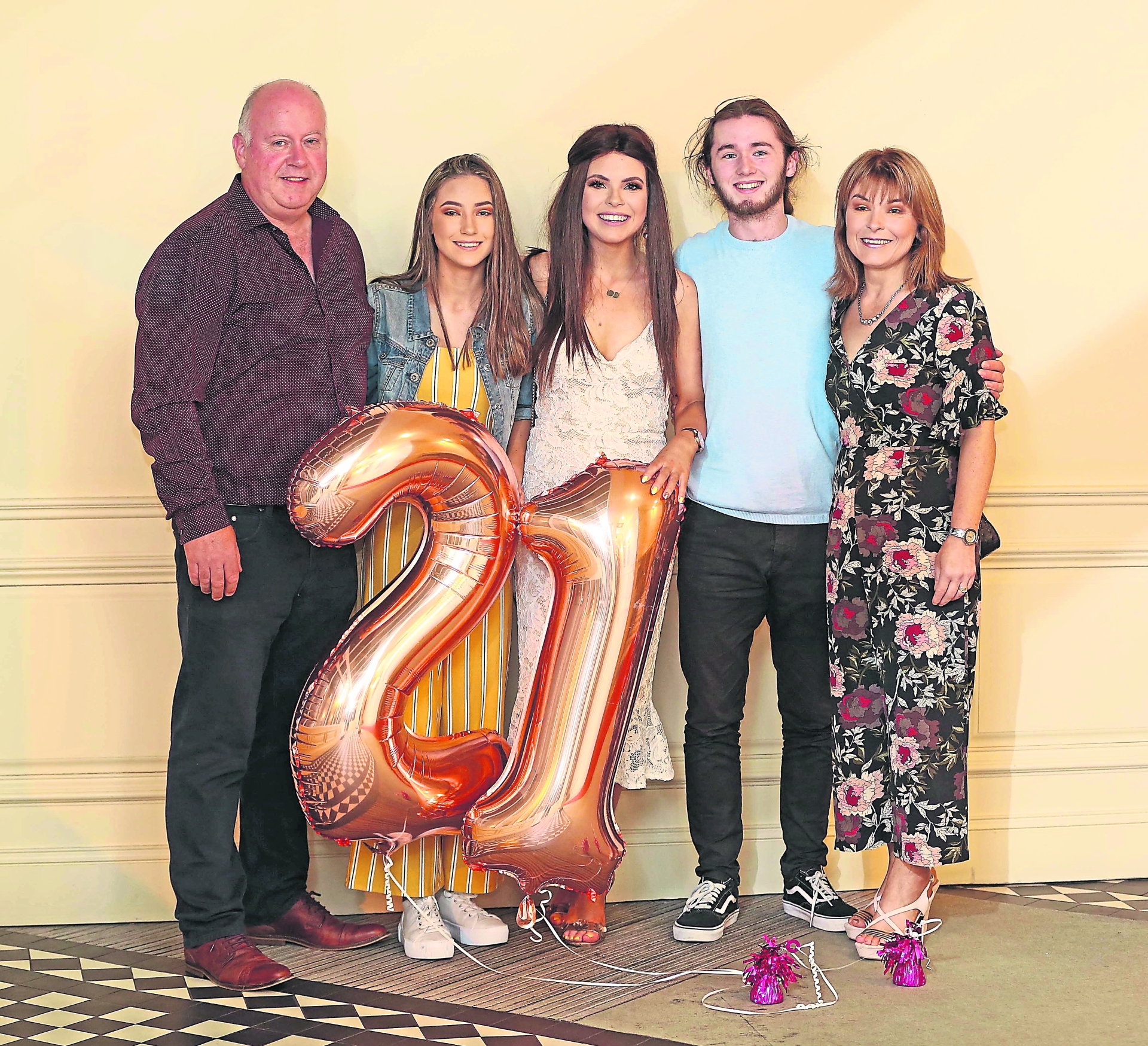 Clodagh Gray and her family at Clodagh's 21st