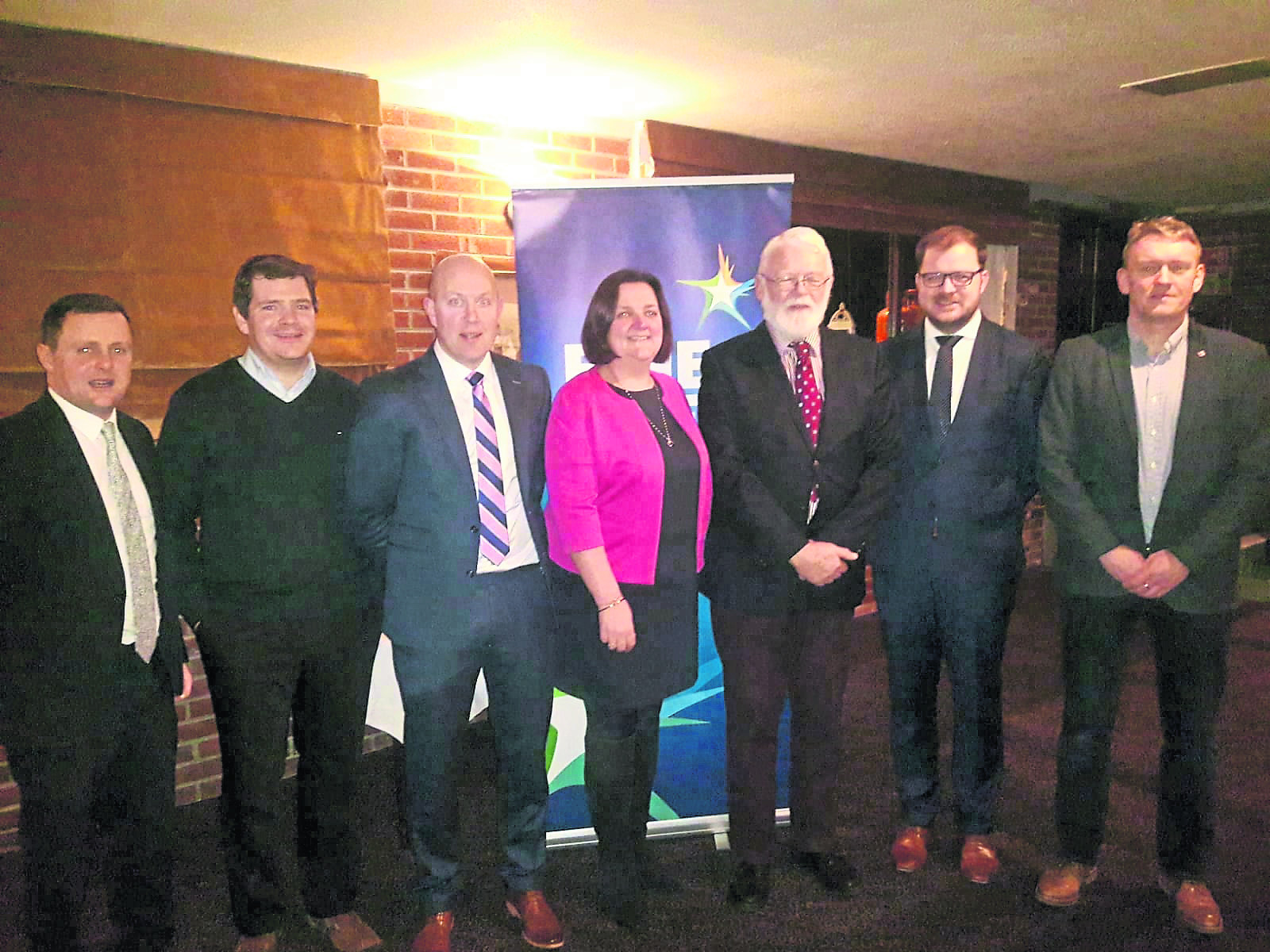 Outgoing Fine Gael Councillors Paul Ross, Colm Murray and Gerard Farrell were selected on Monday night to contest the 2019 local elections in the Ballymahon Municipal District. Pictured l to r; Cllr Gerard Farrell, Deputy Peter Burke, Cllr Paul Ross, Senator Gabrielle McFadden, John Banim Ballymahon District Chairman, Cllr Colm Murray and Cllr Micheàl Carrigy.