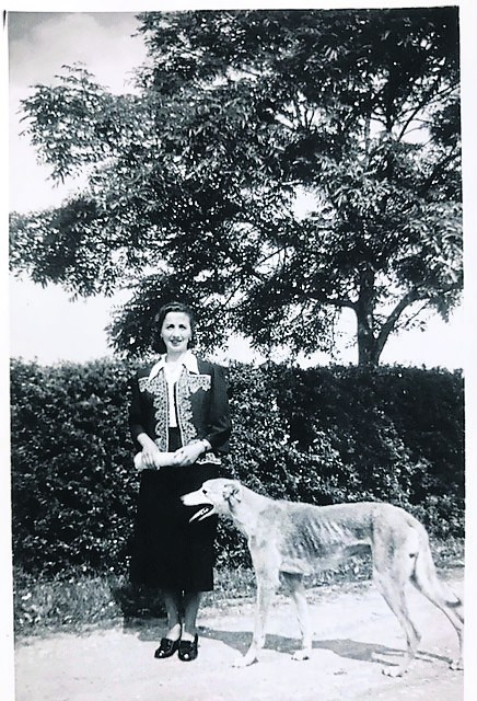 The late Mary Ellen Fletcher pictured following her graduation from the technical college Longford circa 1940. Mary enjoyed taking part in the family pursuit of greyhound breeding and racing, producing one famous winner they called 'Cuilbeg Prince'