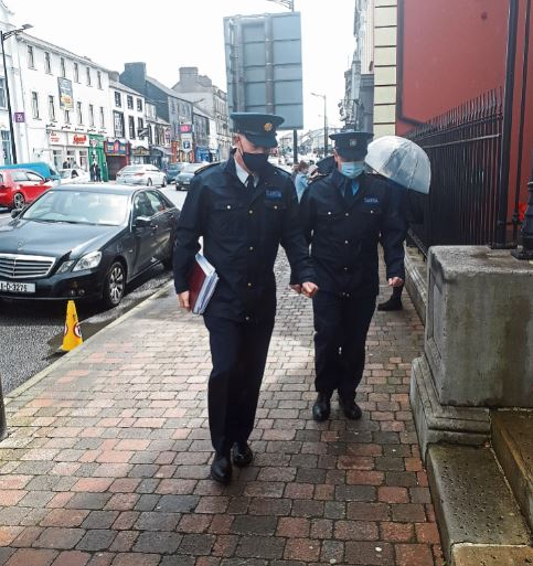 Supt Jim Delaney and Inspector Paddy McGirl at last Monday's special sitting of Longford Circuit Criminal Court